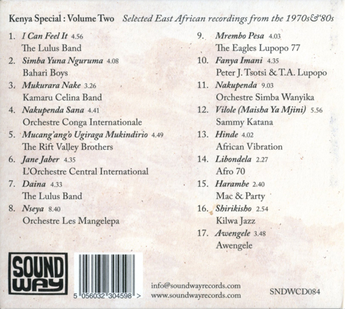 Kenya Special:  Volume Two Back Cover